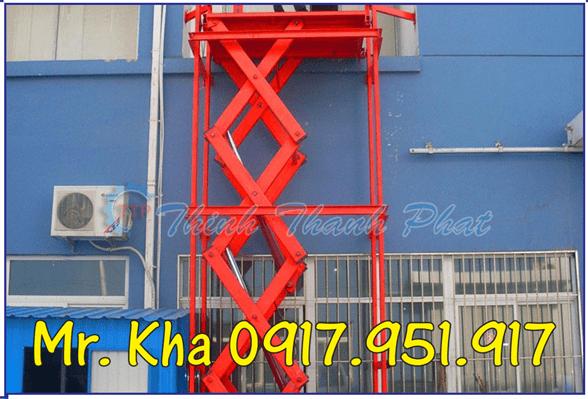 Thang nang hydraulic scissor cargo 01