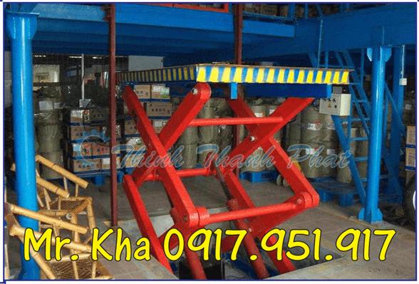 Thang nang hydraulic scissor cargo 02