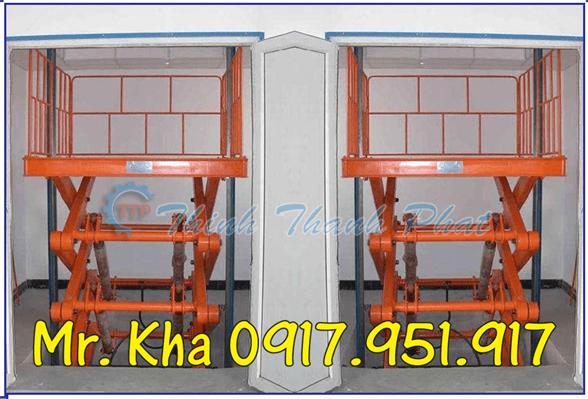 Thang nang hydraulic scissor cargo 03