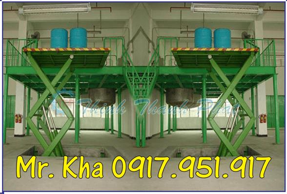 Thang nang hydraulic scissor cargo 04