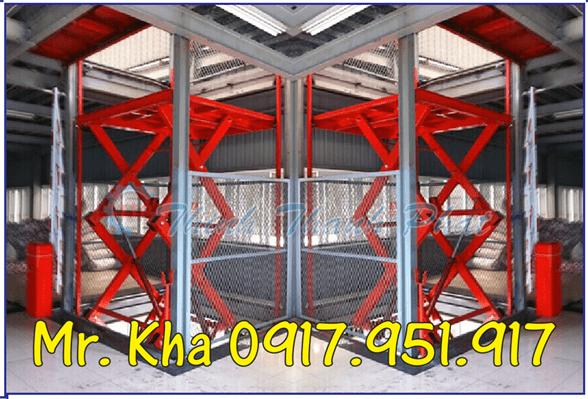 Thang nang hydraulic scissor cargo 05